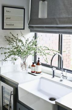Kitchen Sink In A Modern Farmhouse Kitchen