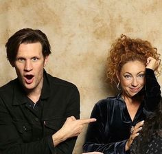 A Doctor a day/Eleven and River reunited.  How good is this picture of Matt and Alex?