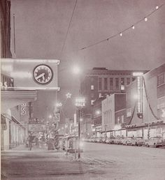 Muskegons downtown at Christmas, 1959.