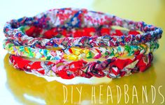 Keep your hair out of your face for once with these easy braided fabric headbands. | 31 Pretty Hair Accessories You Can Actually Make