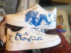 Dragon af1 by offbeatcustom Jordan Shoes Girls, Girls Shoes, Vans Sneakers, Nike Shoes, Jordan 1 Red, Custom Shoes, Custom Af1, Custom Sneakers, Sneaker Heels