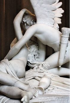 Antonio Canova, Psyche Brought To Life By The Kiss Of Amor, Louvre Museum, Paris Rue Rivoli, Statue Ange, Oeuvre D'art, Art History, Sculpture Art, Just In Case, Sculpting, Art Photography, At Least
