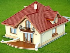 DN Karen is a house with an attic, basement with garage single user in a block building. The project is. Village House Design, Village Houses, Modern Bungalow House, House Design Pictures, Architectural House Plans, Mexico House, Simple House Design, Best House Plans, Exterior Colors