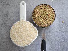 Homemade Mujaddara - Rice and Lentil Pilaf - Budget Bytes Lentil Recipes, Rice Recipes, Vegan Recipes, Cooking Recipes, Easy Recipes, Lebanese Rice Recipe, Lebanese Recipes, Lentils And Rice, Magic Recipe