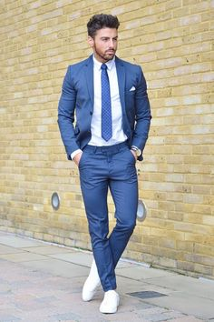white trainers with suit mens - Google Search
