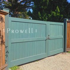 Solid Wood Privacy Driveway Gates from Prowell Woodworks Driveway Fence, Backyard Gates, Driveway Entrance, Driveway Landscaping, Front Yard Fence, Front Gates, Fence Gate, Fencing, Wooden Gate Designs