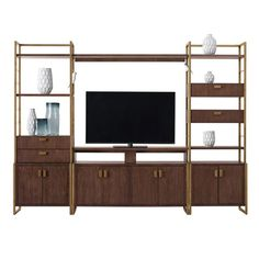 Shop for Pulaski Furniture Modern Harmony Entertainment Wall Piers, and other Home Entertainment Console Tables at Simply Discount Furniture in Santa Clarita and Valencia, CA. Modern Entertainment Center, Entertainment Center Furniture, Home Entertainment, Design Garage, Pulaski Furniture, Cool Tv Stands, Hemnes, Living At Home, Living Room