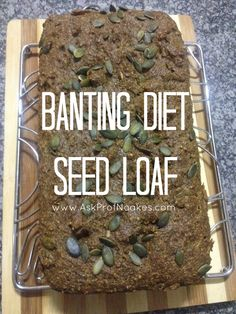 This LCHF bread recipe is so easy to make and keeps and freezes really well too. This banting diet seed loaf will take an hour to make from prep to complete Banting Bread, Banting Diet, Banting Recipes, Loaf Recipes, Ketogenic Recipes, Low Carb Recipes, Real Food Recipes, Cooking Recipes, Paleo Bread
