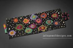 Bead Loom Bracelets, Crochet Bracelet, Woven Bracelets, Seed Bead Patterns, Peyote Patterns, Beading Patterns, Beaded Jewelry Designs, Seed Bead Jewelry, Julie Powell