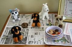"""Adopt a """"Puppy""""-This is a birthday party activity...but how fun to do it during a week the students are learning about responsibility or pets...or other related topic."""