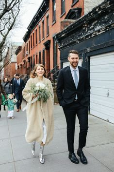 Nyc City Hall Wedding, New York Wedding, London Wedding, Sheath Wedding Gown, Wedding Dresses, Wedding Looks, Dream Wedding, Courthouse Wedding Dress, Look Chic