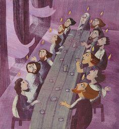 """Loretta Serofilli illustration for """"Storie della Bibbia""""."""