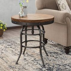 Shop a great selection of Likens End Table Laurel Foundry Modern Farmhouse. Find new offer and Similar products for Likens End Table Laurel Foundry Modern Farmhouse. Living Room Accents, Living Room Decor, Fixer Upper Living Room, Ideas Dormitorios, Console, Metal End Tables, Farmhouse Furniture, Country Furniture, Western Furniture