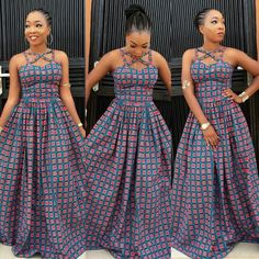 follow me @cushite Creative Ankara Long Gown Design for Ladies - DeZango Fashion Zone