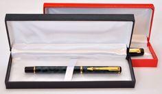 Penna con cofanetto (nero o rosso) • Acquistala online qui: http://www.ebay.it/itm/Penna-roller-con-incisione-personalizzata-con-nome-o-altra-frase-Mod-Leopard-/181205349964?pt=Penne&var=&hash=item6fd23f5b62