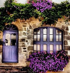 Rochefort-en-Terre, Bretagne (****Photoshopped with purple. See original Pin with blue door/window.