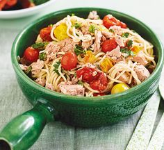 Healthy Recipes: Thousands of perfect meals from Healthy Food Guide Healthy Tuna Recipes, Healthy Food, Shellfish Recipes, Vegetable Stock, Roasted Tomatoes, Main Meals, Cooking Time, Pasta Salad, Vegetarian
