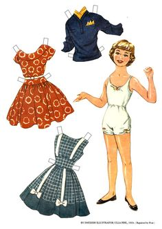 Anita by Ulla Pihl 1950s* Christmas paper dolls The International Paper Doll Society Arielle Gabriel artist #QuanYin5 Twitter, Linked In QuanYin5 *