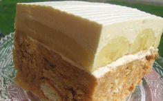 Kinder mliečny rez - rýchly a výborný koláčik bez múky! No Bake Cookies, Cake Cookies, No Bake Cake, Brze Torte, Ice Cream Candy, Czech Recipes, Special Recipes, Something Sweet, Cakes And More