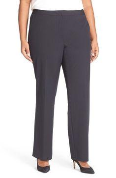 Sejour Sejour 'Ela' Stretch Curvy Fit Wide Leg Suit Pants (Plus Size & Petite Plus) available at #Nordstrom