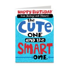 personalized birthday card.