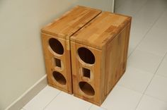 I've been DIYing speaker for a while. One day I walk around Ikea and saw Lamplig chopping block that can be used to make solid speaker cabinet.