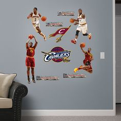 Cleveland Cavaliers Power Pack REAL.BIG. Fathead Wall Graphic   Cleveland Cavaliers Wall Decal   Sports Home Decor   Basketball Bedroom/Man Cave/Nursery