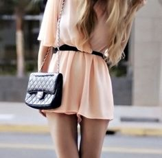 Baby pink and luxe black = perfect combo