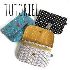 Unique and Creative Achille Pockets Tutorial Sewing Hacks, Sewing Projects, Coin Purse Tutorial, Wallet Tutorial, Diy Wallet, Diy Bags Purses, Creation Couture, Couture Sewing, Fabric Bags
