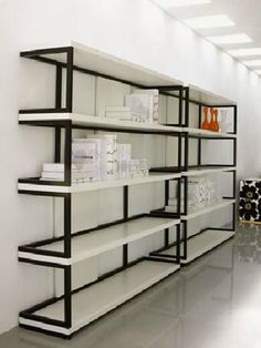 Sipario by Linfadesign Shelf Furniture, Iron Furniture, Home Decor Furniture, Furniture Design, Furniture Removal, Supermarket Design, Retail Store Design, Supermarket Shelves, Diy Storage Shelves