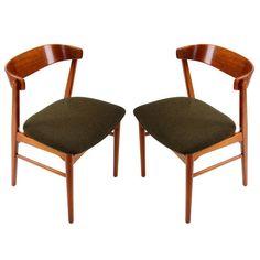 TEAK and BEECH dining chair  Danish Mid Century Modern chair