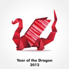 Year of the Dragon origami Chinese New Year Party, Happy Chinese New Year, New Years Party, Chinese Christmas, Christmas Ideas, Paper Art, Paper Crafts, Chinese Calendar, Origami Dragon