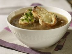 Look at this recipe - French Onion Soup - and other tasty dishes on Food Network. Food Network Uk, Food Network Recipes, Uk Recipes, Cooking Recipes, Slow Cooking, Onion Soup Recipes, French Onion, Tasty Dishes, Casserole Dishes