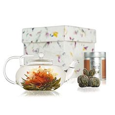 Flowering Tea Discovery Gift Set with Lotus Glass Teapot