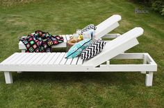 I want to make this! DIY Furniture Plan from Ana-White.com Make wood outdoor chaise lounge for $35. Free step by step DIY plans from Ana-White.com