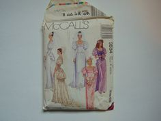Vintage 1980s McCall's 3534 Victorian Style Bridal Gown and Bridesmaids Dress size 6-10 #Etsy #TrinasCraftPatterns http://etsy.me/29yx52T