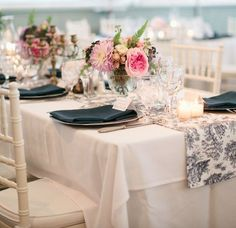 Gold Chivari Chairs alongside tables of Gold Rimmed Glasses and Gold Chargers with Gold Rimmed Dinner Plates on top Photo Credit: Marni Rothschild Chiavari Chairs Wedding, Gold Chivari Chairs, Wedding Table Linens, Wedding Table Decorations, Wedding Themes, Wedding Centerpieces, Navy Chairs, White Chairs, Wedding Ideas