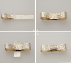 #Simple #Gift #Wrapping Idea with #Glitter #Bow #DIY | Brunch at Saks