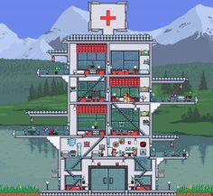 Terraria House Design, Terraria House Ideas, Terraria Tips, Minecraft Crafts, Minecraft Designs, Gaming Tips, Biomes, Sandbox, Building Design