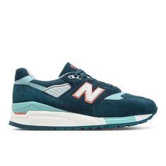 998 New Balance Women's Running Classics Shoes - Blue (W998CHT)
