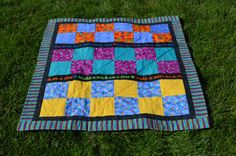 Modern Baby/Toddler Quilt Wish Upon A StarGift by 5thAveFibers