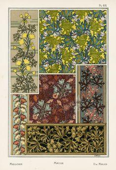 Art Nouveau Pattern, Pattern Art, Pattern Design, William Morris, Eugene Grasset, Craft Images, Motif Floral, Floral Illustrations, Texture Design