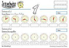Lire l'heure (CE2/Mesures/Les fiches d'exercices)