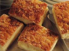 Bienenstich (a.k.a. German Bee Sting Cake)...A delicious dessert cake that is commonly found in all German bakeries...it is to die for!