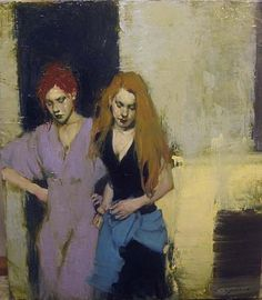 Malcolm Liepke  The Blue Sash  oil on canvas  24 x 21 inches