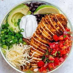 { Delicious Meal Prep Bowl idea coming at you now! always wins over relying on…Grilled Chicken Burrito Salad Bowls 🌱 . { Delicious Meal Prep Bowl idea coming at you now! always wins over relying on…