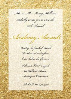 Academy Awards Party Invitations