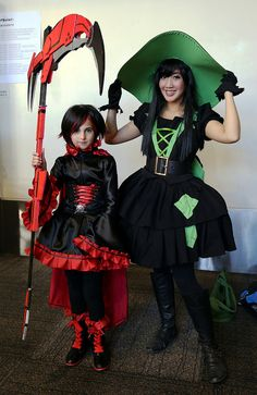 Ruby the animated web series RWBY, with Fiona, from the online video game Fiona Frightening and the Wicked Wardrobe
