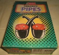 Liquorice pipes