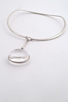 Vivianna Torun for Georg Jensen, Denmark - classic large 'Dew Drop' neck ring & pendant #Denmark #Georg-Jensen #necklace